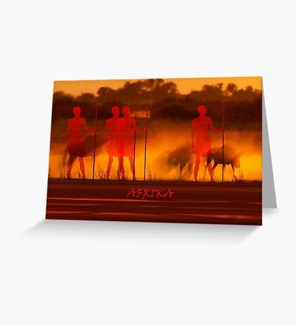 Massais Greeting Card