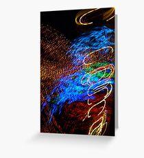Abstract Angel by Bradley Blalock Greeting Card