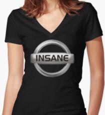 Insane Nissan Abzeichen - JDM Decal Shirt mit V-Ausschnitt
