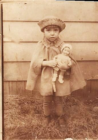 my mother,three years old. by califpoppy1621
