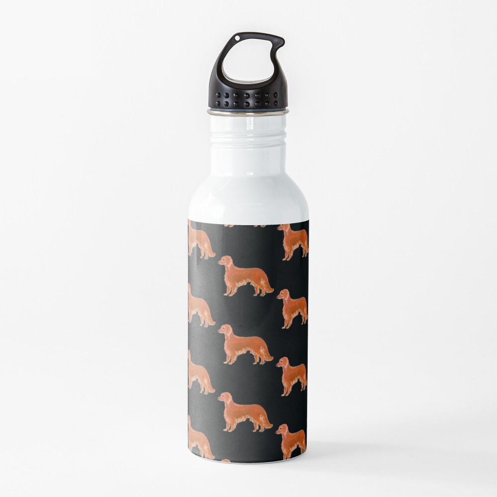 Red Setter Dog Illustration Water Bottle