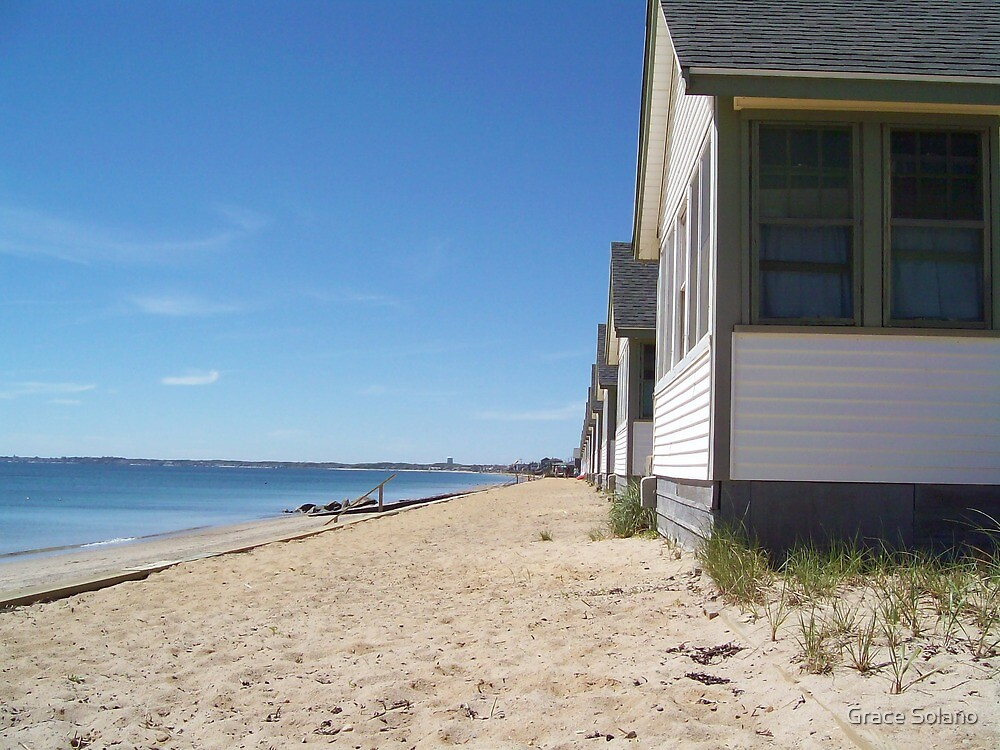 Cottages Along the Bay by Graciela Maria Solano