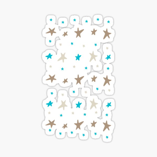 Bronze and Blue Star-Size Md or Lg only Sticker