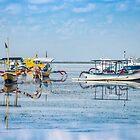 Sanur Boat Reflection by JohnKarmouche