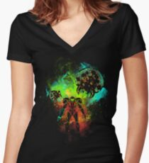 Bounty Hunter of Space Women's Fitted V-Neck T-Shirt