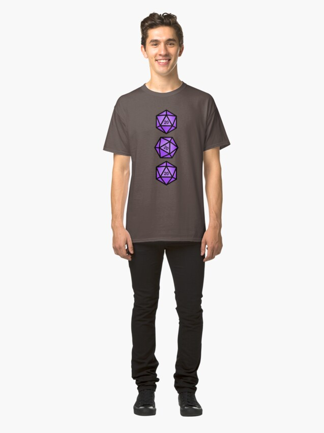 Alternate view of Purple d20 Classic T-Shirt