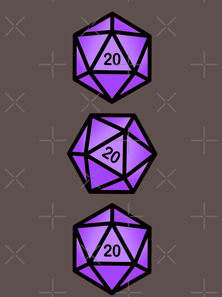 Purple d20 by ninthstreet
