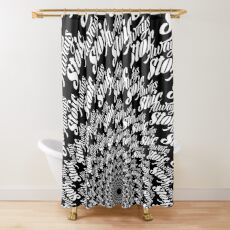 Always Stoic - Stay Stoic Always - Full Circle in White Shower Curtain