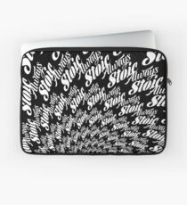 Always Stoic - Stay Stoic Always - Full Circle in White Laptop Sleeve