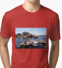 Peggy's Cove, Nova Scotia Tri-blend T-Shirt