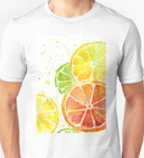 Juicy Citrus Fruit Watercolor, Food Painting, Tasty Art Unisex T-Shirt