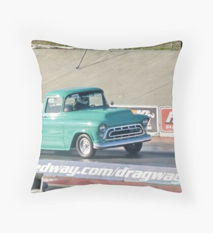 Shades of Green; Summit Series Racing; January 2009; Fomoso Raceway, Mcfarland, CA USA; Lei Hedger Photography All Rights Reserved Throw Pillow