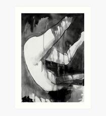 figure in transient flux Art Print