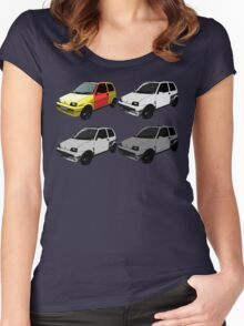 The Clungemobile - The Inbetweeners Women's Fitted Scoop T-Shirt