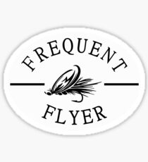 Frequent Flyer Fly Fishing STICKER Sticker