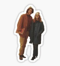 Bill and Hillary Clinton Sticker