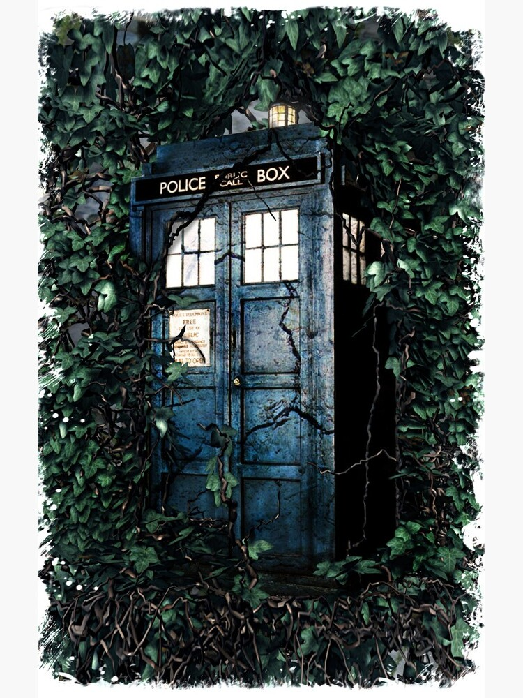 Police Box in The Garden Hoodie / T-shirt by DarrellHo