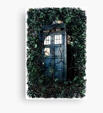 Police Box in The Garden Hoodie / T-shirt Canvas Print