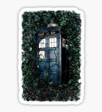Police Box in The Garden Hoodie / T-shirt Sticker
