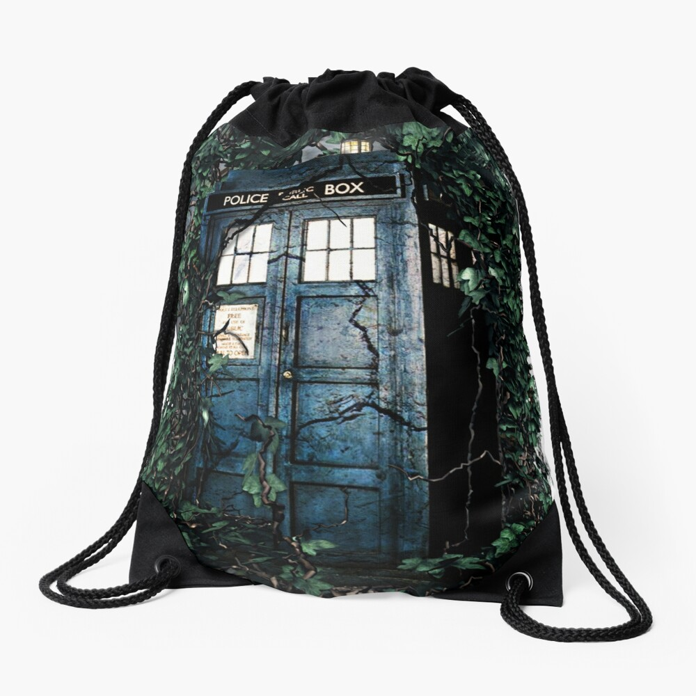 Police Box in The Garden Hoodie / T-shirt Drawstring Bag