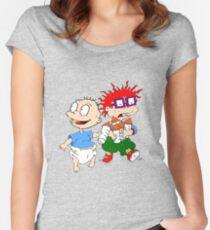 Rugrats Tommy und Chuckie Tailliertes Rundhals-Shirt