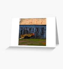 """""""Old Blue Shed"""" Greeting Card"""