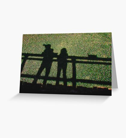 Two RB Artists at San Diego Wild Animal Park  Greeting Card