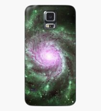 Pinwheel Galaxy [Green Pink] Case/Skin for Samsung Galaxy