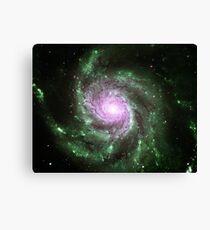 Pinwheel Galaxy [Green Pink] Canvas Print