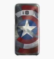 Worn Steve & Bucky Unshielded Half Shield  Samsung Galaxy Case/Skin