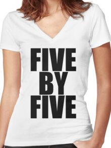 Five by five Women's Fitted V-Neck T-Shirt