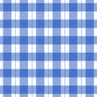 Royal blue gingham checkered pattern by KMA Home Design