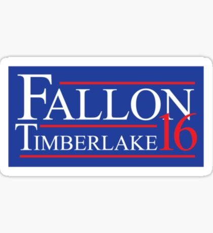 Fallon and Timberlake 2016 Election Sticker