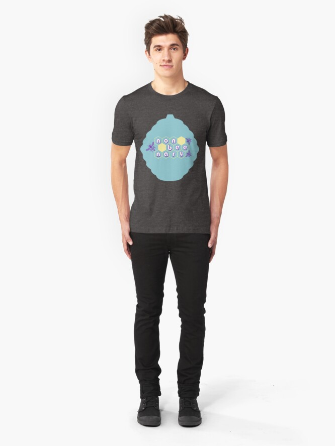 Alternate view of Non-beenary bee hive design Slim Fit T-Shirt