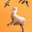 Weird Funny Cat Llama with Flying Taco by SkylerJHill