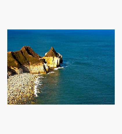 Yorkshire Coast at Thornwick Bay Photographic Print