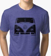 VW Kombi Black design Tri-blend T-Shirt