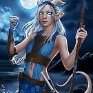Arezu - Tiefling Druid by offbeatworlds