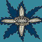 Navy Voynich Flowers by mintdawn