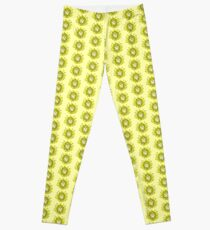Flower Swirl - Yellow Leggings