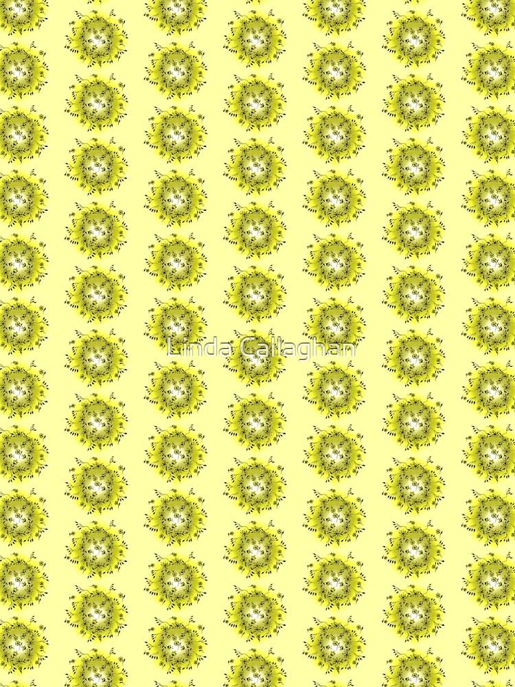Flower Swirl - Yellow by LindArt1