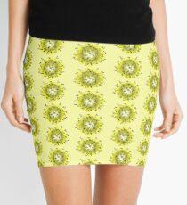 Flower Swirl - Yellow Mini Skirt
