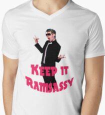 Keep It Ramsassy print Men's V-Neck T-Shirt