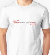 Writing Advice Unisex T-Shirt