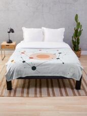 Microscopic structure Throw Blanket