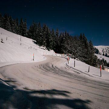 Moonlit Mountain Pass by mhowellsmead