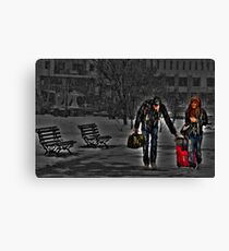Winter vacations.... Canvas Print