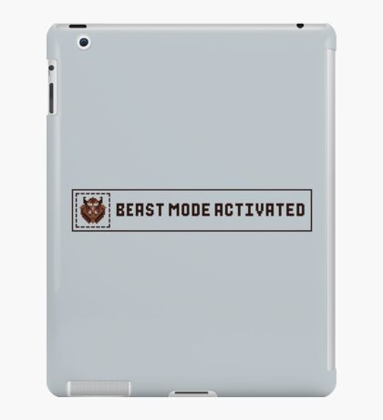Beast Mode Activated iPad Case/Skin