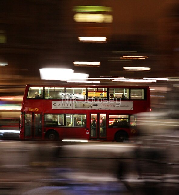 Big Ben, Red Bus by Nik Jowsey