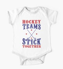 Hockey Teams Stick Together One Piece - Short Sleeve